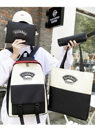 Новый набор 4 в 1 рюкзак в школу , городской качество / сумка / клатч / пенал1 фото