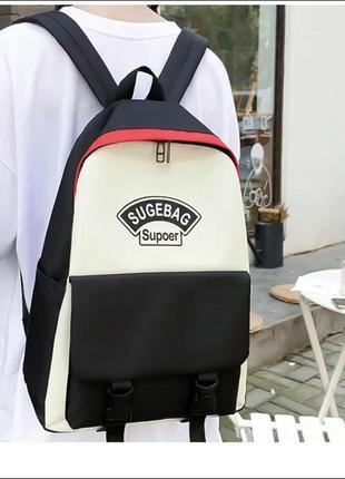 Новый набор 4 в 1 рюкзак в школу , городской качество / сумка / клатч / пенал4 фото