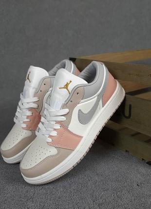 Nike air jordan 1 low 🍏 стильные женские кроссовки найк джордан