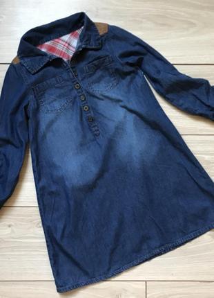 Джинсовое платье 6-8 лет