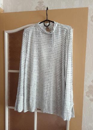Коттоновая блузка next с длинными рукавами размер 56.