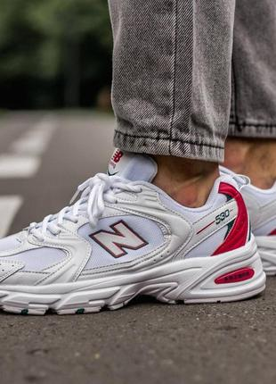 🔥🔥🔥 мужские/женские кроссовки new balance 530 white\red