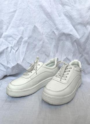 Базовые белые кроссовки braska. повседневные кроссовки