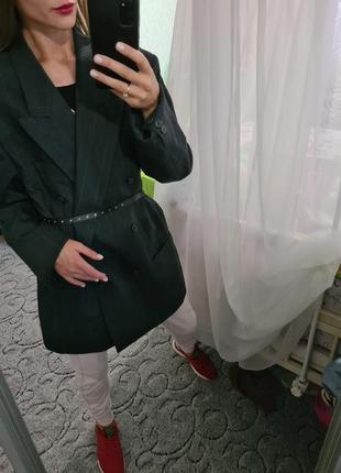 Шикарный винтажный удлинённый пиджак, жакет оверсайз с мужского плеча balmain