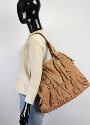 Фирменная кожаная сумка в стиле mulberry liebeskind vera pelle