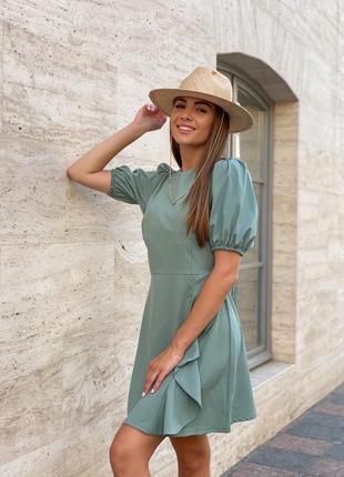 Платье летнее женское легкое свободное нарядное с открытой спиной короткое