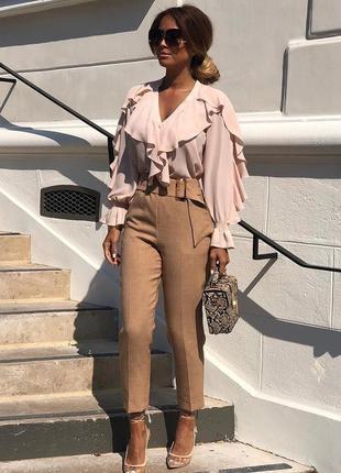 Шикарная инстаграмная нюдовая блуза от зара