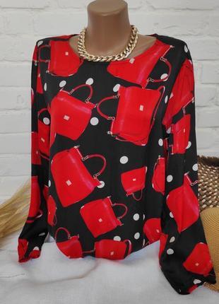 Блуза шелк+вискоза