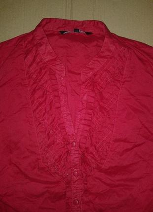 Блуза с декором, коттон 100%, бренд david emanuel