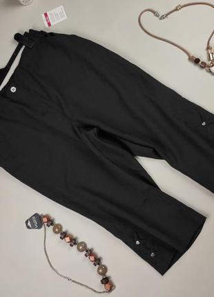 Штаны брюки капри новые черные большого размера uk 18-20