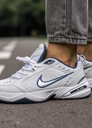 Мужские стильные осенние кроссовки nike monarch white\blue