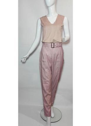 Укороченные женские брюки с высокой посадкой prettylittlething, под пояс