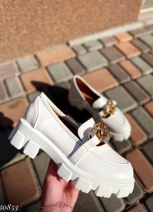 Туфли эко-кожа белый