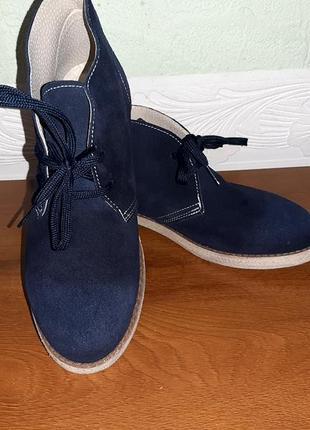 Замшевые ботинки 39р.