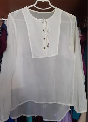 Белая блузка шифон