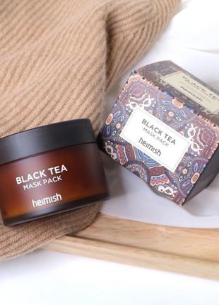 Успокаивающая маска с экстрактом чёрного чая, heimish, black tea mask pack