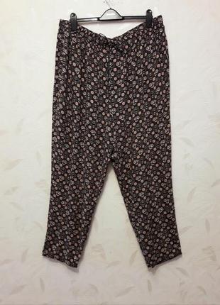 Мягкие, уютные летние штанишки батального размера и на высокий рост из тончайшей натуральной вискозы от new look, 60?-62-64?
