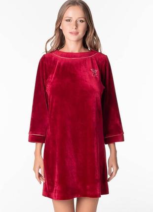 Велюровое платье ottawa тм komilfo вино