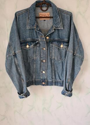 Шикарная объёмная джинсовая куртка, джинсовка оверсайз винтаж