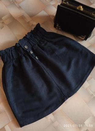 Стильная льняная юбка на резинке от bershka.