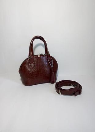 Мини сумочка из натуральной итальянской кожи