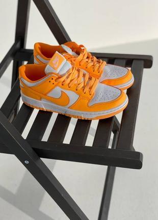 Женские яркие оранжевые кроссовки nike dunk low laser orange 38-39 размер