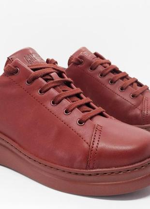 Стильные кожаные кеды кроссовки полуботинки туфли camper оригинал