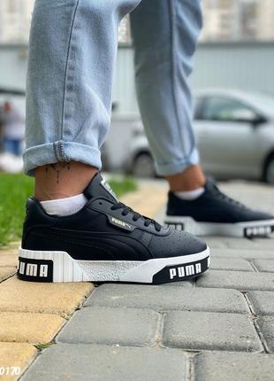 Пума puma кроссовки кеды женские чёрные3 фото