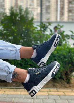 Пума puma кроссовки кеды женские чёрные4 фото