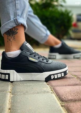 Пума puma кроссовки кеды женские чёрные5 фото