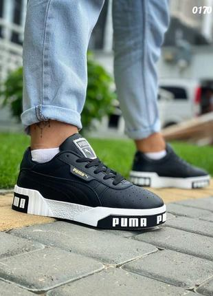 Пума puma кроссовки кеды женские чёрные6 фото