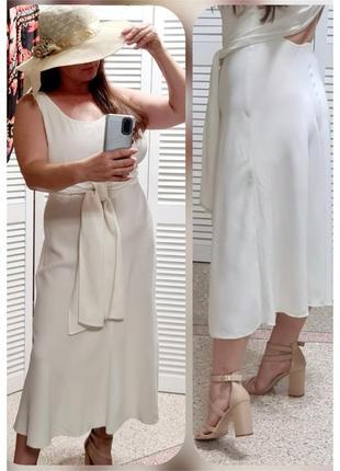 Белое платье сарафан prada с завязками