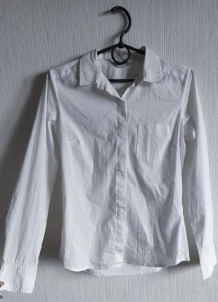 Базовая белая коттоновая рубашка