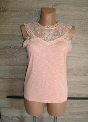 Блуза кружевная, кружево, размер 10-12