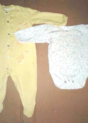 Боди и комбинезон на ребёнка 0-1 год или 0-12 месяцев