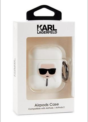 Чехол для наушников airpods 1 и 2 karl lagerfeld оригинал