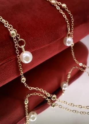 Золотистая цепочка для очков держатель с подвесками