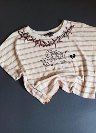 Топ футболка ручная роспись ручная работа эксклюзив кастом кастомний