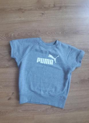 Укороченная спортивная футболка топ puma