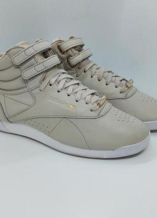Кожаные кроссовки reebok classic hi muted leather оригинал