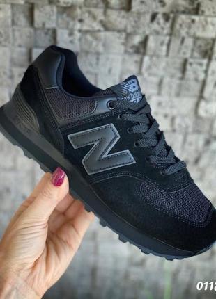 Чёрные стильные кроссовки женские2 фото