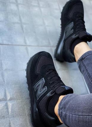 Чёрные стильные кроссовки женские4 фото