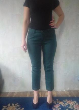 Изумрудные джинсы скини woman.