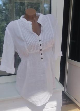 Льняная шикарная блуза 100% лён