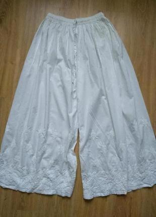 Хлопковые кюлоты юбка штаны