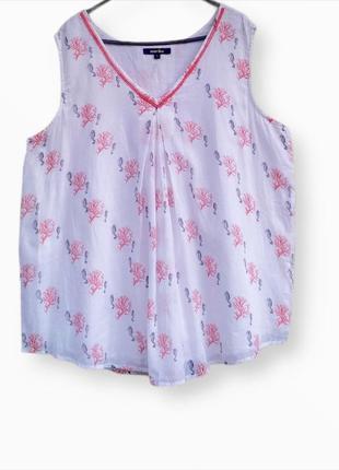 Роскошная хлопковая блузка с бисером
