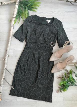 Сукня в діловому стилі 🐆 леопардовий принт 🐾