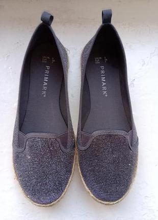 Туфли-эспадрильи primark, размер 38