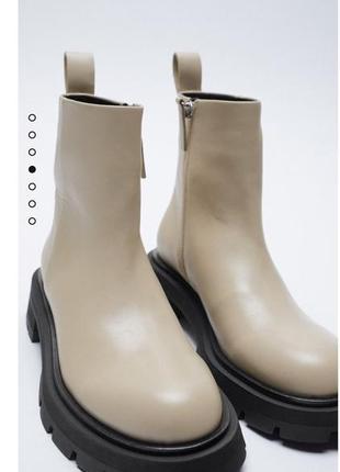 Ботинки из натуральной кожи zara