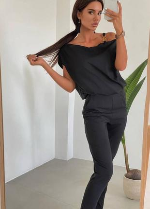 Костюм брюки+кофта. женский брючный костюм